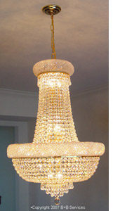 Chandelier installed by B+B Services
