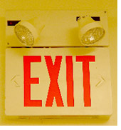 Exit sign installed by B+B Services